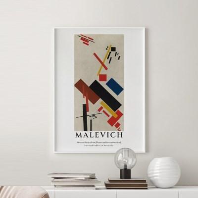 전시회 포스터 그림 액자 말레비치 슬라이드