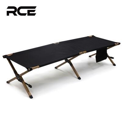 RCE 접이식 캠핑 블랙코트 야전 침대 우드