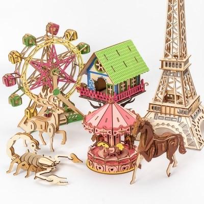 3D 입체 퍼즐 미니어쳐 나무 만들기 키트