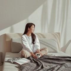 스너그홈 그레이 천연 라텍스 침대 매트리스 10cm Q
