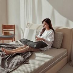 스너그홈 그레이 천연 라텍스 침대 매트리스 15cm LK