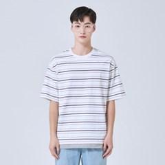 스트라이프 레이어드 5부 티셔츠 SPRSA24C18