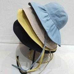 턱끈 무지 기본 챙넓은 보넷 버킷햇 벙거지 모자