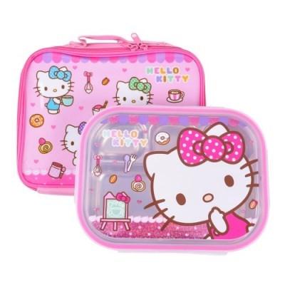 헬로키티 예쁜 가방 스텐 식판세트 유아 아동 어린이