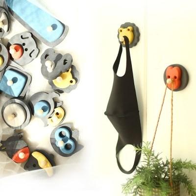 런메이크 캐릭터 현관 마스크걸이-초강력 자석 옷걸이 열쇠고리