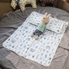 도도베베 아기 어린이 쿨 베개 여름 3D 매쉬 베개