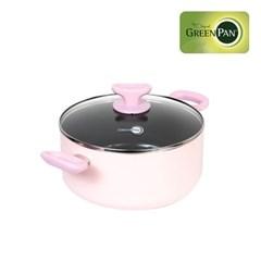 그린팬 토리노 핑크 24cm 양수냄비/4.95L_(1820692)