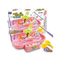 빙글빙글 야자수 낚시놀이세트-핑크 장난감,유아완구,작