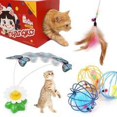 그거멍냥 고양이 장난감 스크래쳐 낚시대 용품 5종 선물세트