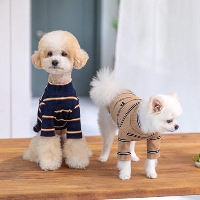 [펫츠랜드] 강아지옷 강아지티셔츠 마벨 골지 티셔츠