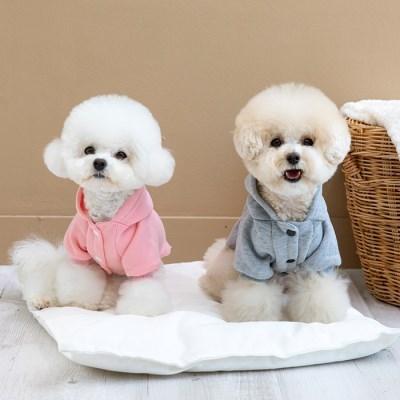 [펫츠랜드] 강아지옷 강아지후드티 베이직 기모 후드 점퍼