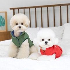 [펫츠랜드] 강아지옷 강아지베스트 레터링 양면 베스트