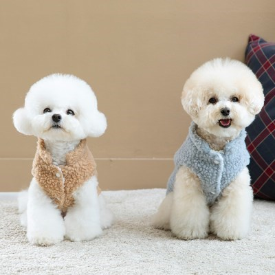[펫츠랜드] 강아지옷 강아지베스트 뽀글이 후리스 베스트