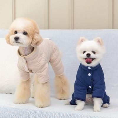 [펫츠랜드] 강아지올인원 강아지옷 베베 누빔 올인원