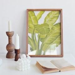 식물 그림 인테리어 우드 액자 장식 (2종택1)