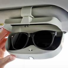 안경 카드수납 클립형 원터치 차량용 선글라스 보관함_(1327221)