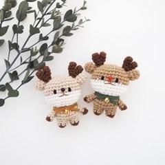[손뜨개 DIY 키트] 꼬꼬마 코바늘 사슴 인형 만들기