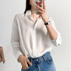 심플 데일리 쉬폰 기본 셔츠
