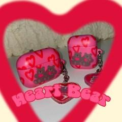 [뮤즈무드] Heart Bear airpods case (하드에어팟케이스)