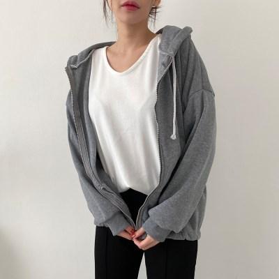 겟잇미 비미 스트링 후드 루즈핏 집업