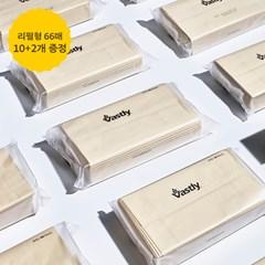 바스틀리 다용도 리필 티슈 66매 12팩 화장지 휴지