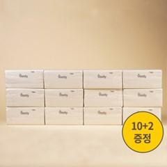 바스틀리 다용도 리필 티슈 100매 12팩 화장지 휴지