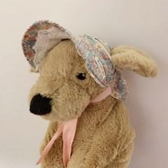 봄다발 샤방캡 강아지 고양이 썬캡 모자 아소비진