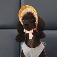 노랭이 샤방캡 강아지 고양이 썬캡 모자 아소비진