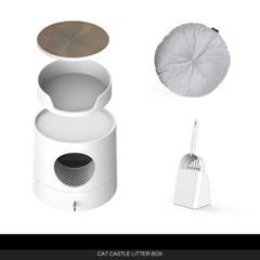 손담비 고양이 화장실+쿠션 캣똥 냄새 즐똥 묘래박스 로