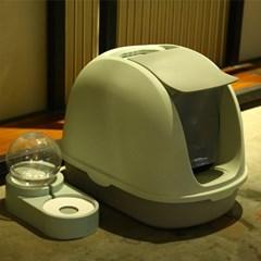 손담비 대형 고양이 화장실 반밀폐형 캣똥 냄새 즐똥 묘