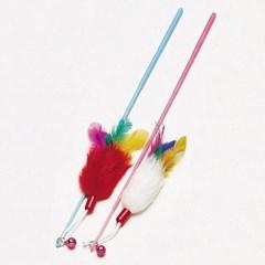 고양이 막대 놀이 깃털 색상랜덤 캣토이