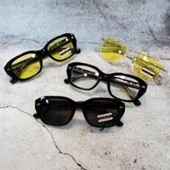 뿔테 기본 도수없는 가벼운 블랙 투명 패션 선글라스