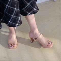 여자 여름 데이트룩 나들이 감각적인 뮬 8cm 하히힐