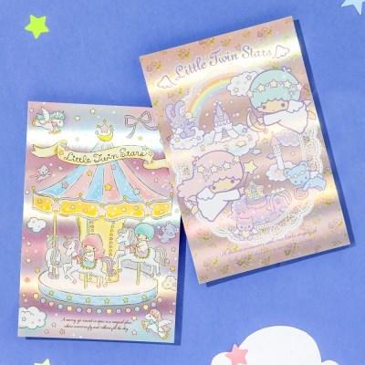[Sanrio] 리틀트윈스타 홀로그램 엽서
