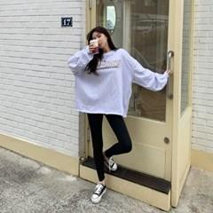 여자 데일리 편한 꾸안꾸패션 오늘의코디 레이온 레깅스