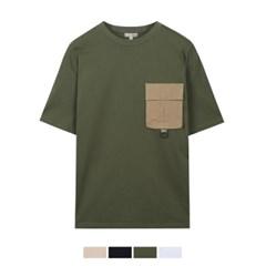 우븐 패치 반팔 티셔츠 SPRPA25C26