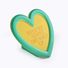MAGNET STAND PHOTO FRAME_HEART_GREEN