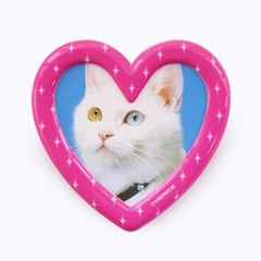MAGNET STAND PHOTO FRAME_HEART_PINK
