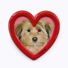 MAGNET STAND PHOTO FRAME_HEART_RED