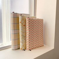 yellow fabric book cover (3colors)