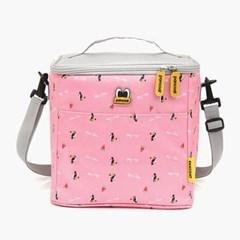 팬콧 트로피칼사각 보냉 도시락 가방 핑크그레이 소풍