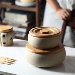 온나 도자기 항아리 조미료통 양념통(소형)