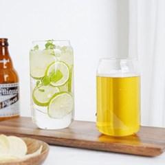라벨르 홈카페 내열 유리 비어캔 카페 맥주 아메리카노 유리컵
