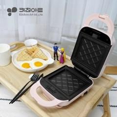 키친아트 렉스 와플 샌드위치 메이커 핑크 KP-950P