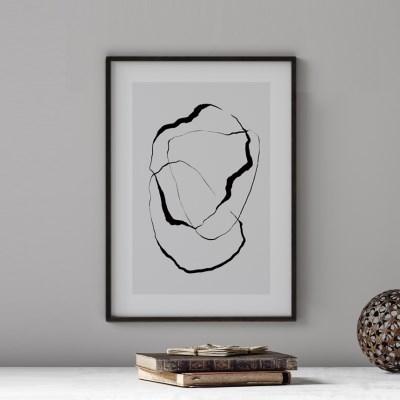 블랙브러쉬 추상화 그림 액자 포스터
