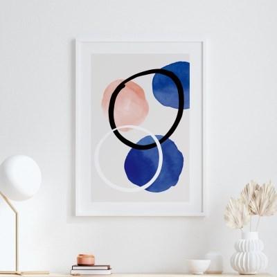 드롭핑크 추상화 그림 액자 포스터