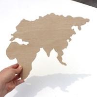 우드아트꾸미기 - 세계지도 (W600) 컬러링 미술놀이
