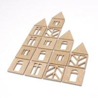 우드아트꾸미기 - 블록 (W599) 컬러링