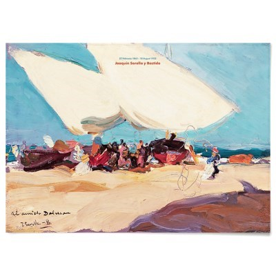 패브릭 포스터 바다 풍경화 배 그림 액자 호아킨 소로야 12
