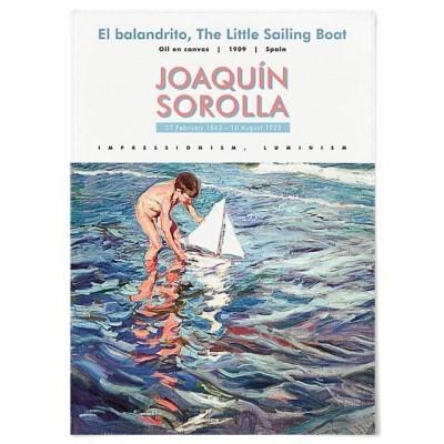 패브릭 포스터 바다 종이배 그림 액자 호아킨 소로야 10